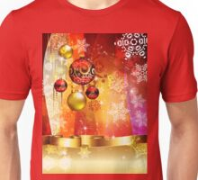 Colorful Background with Xmas Balls 4 Unisex T-Shirt