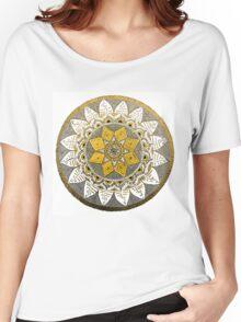 Bronze mandala design. Women's Relaxed Fit T-Shirt