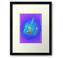 My Blue Glass Dreidel Poster Framed Print
