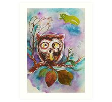 """""""Owlet`s thought"""" Art Print"""