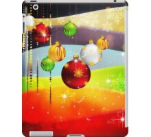 Colorful Background with Xmas Balls 5 iPad Case/Skin