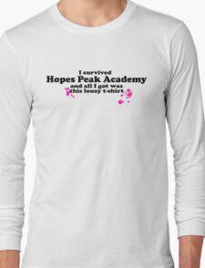 I Survived Hopes Peak Academy (Dark Font) Long Sleeve T-Shirt
