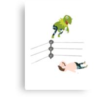 Kermit The Frogsplash Canvas Print