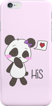 """""""His & Hers"""" Panda (Couple Case) Girl Version [Color] by charsheee"""