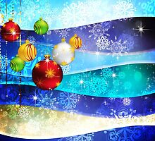 Colorful Background with Xmas Balls 6 by AnnArtshock