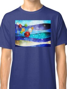 Colorful Background with Xmas Balls 6 Classic T-Shirt