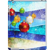 Colorful Background with Xmas Balls 6 iPad Case/Skin