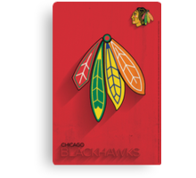 Chicago Blackhawks Minimalist Print Canvas Print
