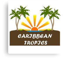 Caribbean Tropics  Canvas Print