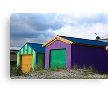 Beach Boxes Canvas Print