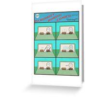 """Incredibly Boring Comics!! #2 - """"Driving"""" Greeting Card"""