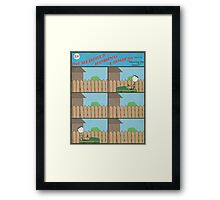 "Incredibly Boring Comics!! #3 - ""Mowing the Lawn"" Framed Print"