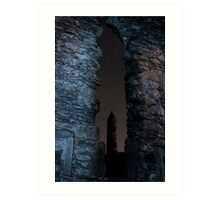 Glendalough Round Tower Art Print
