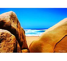 Beach Boulders Photographic Print