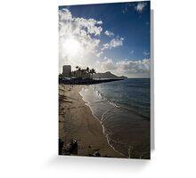 Sun, Sand and Waves - Waikiki, Honolulu, Hawaii Greeting Card