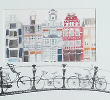 Dutch bicycles Amsterdam by Trudy  Nicholson