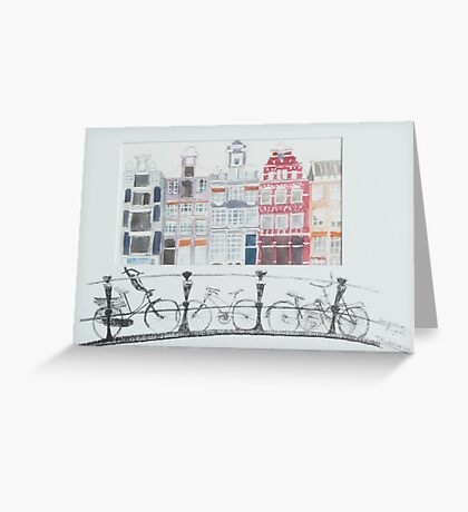 Dutch bicycles Amsterdam Greeting Card