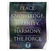 Jedi Code Poster