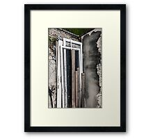 pack up, pack down. Framed Print