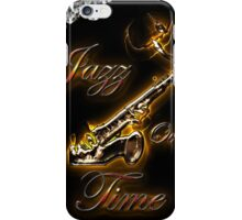 Saxophon Jazz over Time by Bluesax iPhone Case/Skin