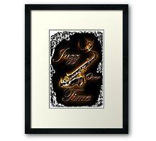 Saxophon Jazz over Time by Bluesax Framed Print