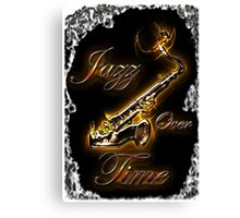 Saxophon Jazz over Time by Bluesax Canvas Print