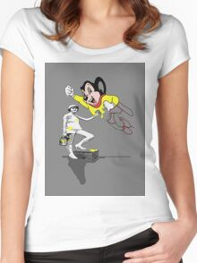 ( LADY ) of leisure.. Women's Fitted Scoop T-Shirt