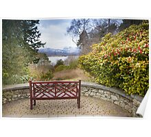 Brockhole - Bench and Mountains Poster