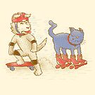 Skateboard dogs don't like roller skate cats by nickv47
