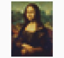 Mona Lisa pixelated by AVirileEgo