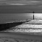 Groyne in Bournemouth Dorset by Chris Day