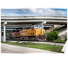 Train Under Bridge Poster