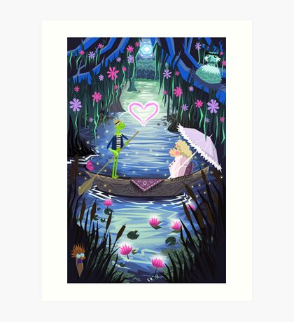 Kermit and Miss Piggy Romantic Cruise Art Print