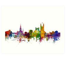Bath England Skyline Cityscape Art Print