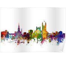 Bath England Skyline Cityscape Poster