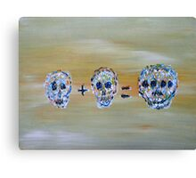 SKULL MATHEMATICS Canvas Print
