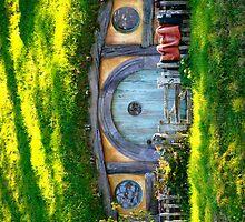 Hobbit Hole at Hobbiton - New Zealand by Nicola Barnard