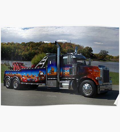 "Peterbuilt Big Rig Tow Truck ""Cars"" Tribute Truck Poster"