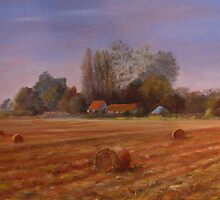 Autumn on the Marsh Kent by Beatrice Cloake Pasquier