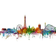 Blackpool England Skyline Photographic Print