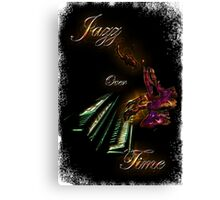 Piano Jazz Over Time by Bluesax Canvas Print