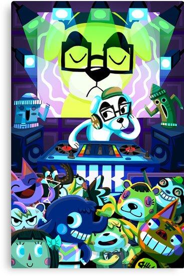 DJ KK Animal Crossing by Chantal Moosher