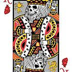Horror Skeleton King Playing Card by thejoyker1986