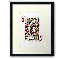 Horror Skeleton King Playing Card Framed Print