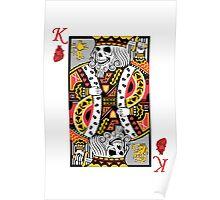 Horror Skeleton King Playing Card Poster