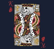 Horror Skeleton King Playing Card Kids Tee