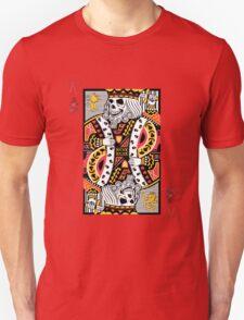 Horror Skeleton King Playing Card Unisex T-Shirt