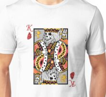 Horror Skeleton King Playing Card Unisex T-Shirt