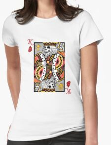 Horror Skeleton King Playing Card Womens Fitted T-Shirt