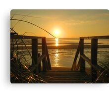 Sunset at Campground Beach 2 Canvas Print